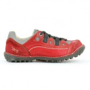 The Art Company 0151 Shotover Shoe Carmin, Stylish shoe with suede and sinai panels