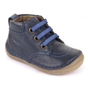 Froddo Minis Laced Ankle Boot G2130099 Blue, leather velcro ankle boot