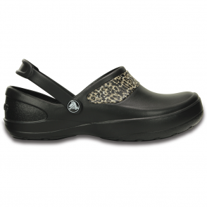 Mercy Work Black/Gold, Fully molded Croslite clog, with Crocs Lock non slip soles and back strap