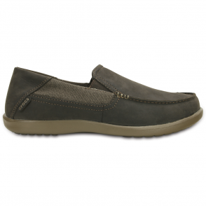 Crocs Santa Cruz 2 Luxe Leather Espresso/Walnut, comfortable smart adn refined