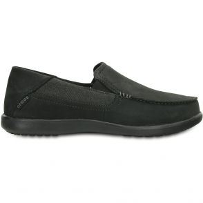 Crocs Santa Cruz 2 Luxe Leather Black/Black, comfortable smart adn refined