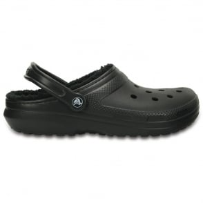 Crocs Classic Lined Clog Black/Black, the Classic Clog but with a warm fuzzy lining