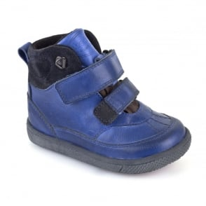 Froddo G2110054 Waterproof Boot Blue, velcro boot with warm lining