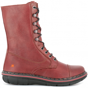 The Art Company 0436 Assen Boot Amarante, zip up leather boot with front laced detail