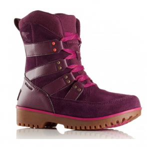 Sorel Youth Meadow Lace Y2414 Purple Dahlia, waterproof lace up boot