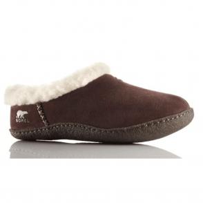 Sorel Nakiska Slipper NL1474 Hawk, suede slipper with natural rubber sole