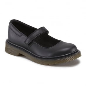 Dr Martens Maccy Softy Youth Black, Mary jane style school shoe