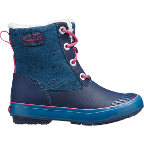 KEEN Youth Elsa Boot WP Ink Blue/Very Berry, waterproof fashionable winter boot for kids