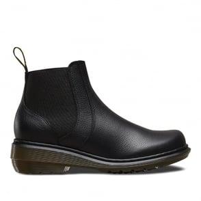 Dr Martens Pamela Chelsea Boot Black, leather slip on boot