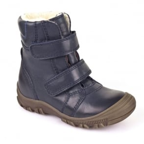 Froddo Waterproof Ankle Boot G3110074 Youth Navy, waterproof velcro boot