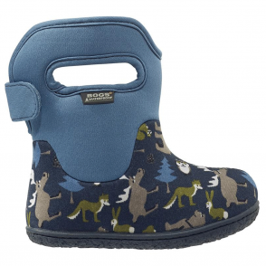 Bogs 718641 Infant Classic Woodlands Navy Multi, 100% waterproof wellington boots with snuggly warm lining