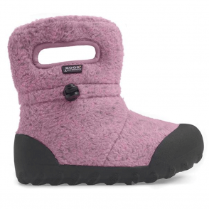 Bogs 72012 Junior B-Moc Fleece Pink, 100% waterproof wellington boot with adjustable draw cord system