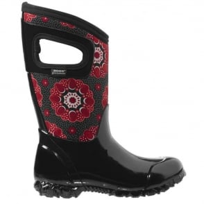 Bogs 71842 North Hampton Kaleidoscope Black, 100% waterproof wellington boots