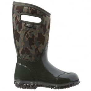 Bogs 71846 Durham Camo Loden Multi, 100% waterproof wellington boots