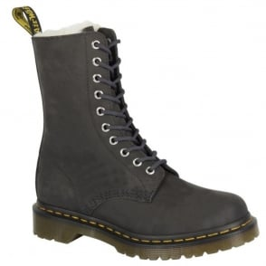 Dr Martens 1490 FL Boot Graphite Grey, leather lace up boot
