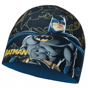 Buff Kids Batman Microfiber & Polar Fleece Hat Dark Bat Multi/Harbor, warm and soft hat with fleece lining