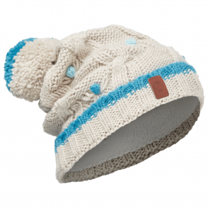 Buff Kids Dysha Knitted & Polar Fleece Hat Mineral Blue/Cru, warm and soft hat with fleece lining