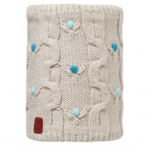 Buff Kids Dysha Knitted & Polar Fleece Neckwarmer Mineral/Cru, warm and soft neckwarmer with fleece lining