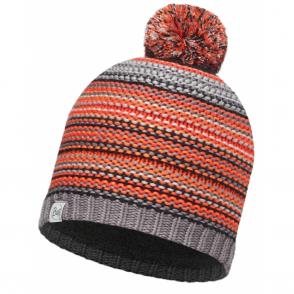Buff Kids Amity Knitted & Polar Fleece Hat Grey Castlerock/Grey, warm and soft hat with fleece lining