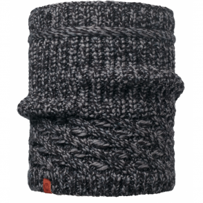 Buff Dean Knitted Neckwarmer Black, warm and soft knitted neckwarmer
