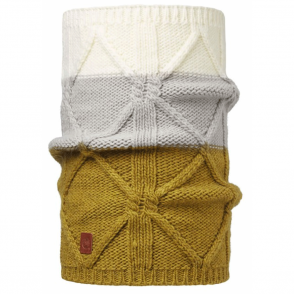 Buff Braid Knitted Neckwarmer Tobacoo, warm and soft knitted neckwarmer