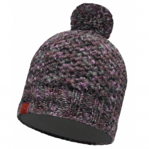 Buff Margo Hat Plum/Grey, warm and soft knitted hat
