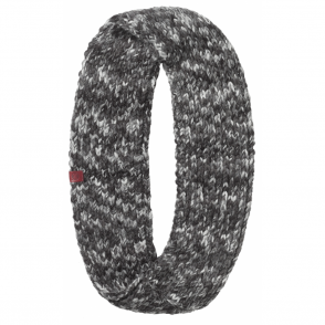 Buff Margo Infinity Knitted Neckwarmer Grey/Black, warm and soft knitted neckwarmer