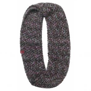 Buff Margo Infinity Knitted Neckwarmer Plum/Grey, warm and soft knitted neckwarmer