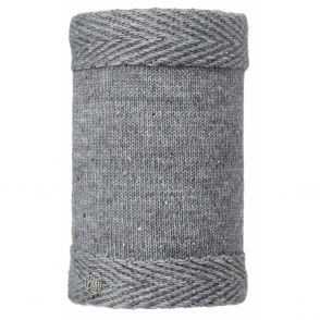Buff Aura Knitted & Polar Fleece Neckwarmer Chic Grey/Grey, warm and soft neckwarmer with fleece lining