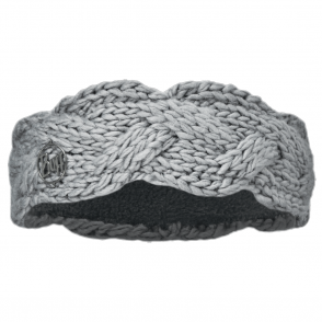 Buff Nyssa Knitted Polar Fleece Headband Light Grey/Grey, warm and soft knitted headband with fleece lining