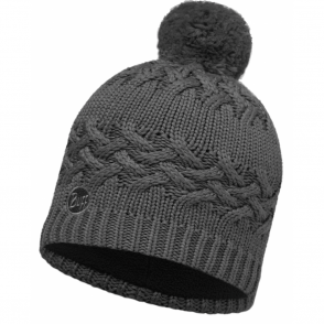Buff Savva Hat Grey Castlerock/Grey, warm and soft hat with fleece lining
