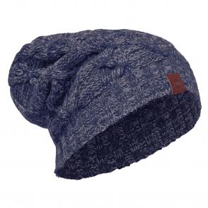 Buff Nuba Merino Wool Knitted Hat Medieval Blue, warm and soft merino wool hat