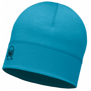 Buff Single Layer Merino Wool Hat Blue Capri
