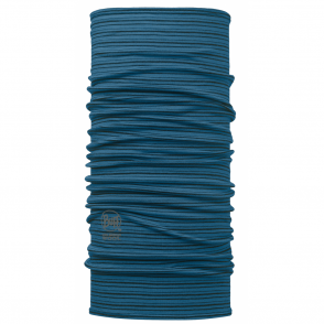 Wool Buff Yarn Dyed Stripes Seaport Blue, Made from 100% Merino wool