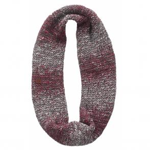 Infinity Buff Blend Neckwarmer Dryn Ruby Wine, Chunky knitted infinity neckwarmer