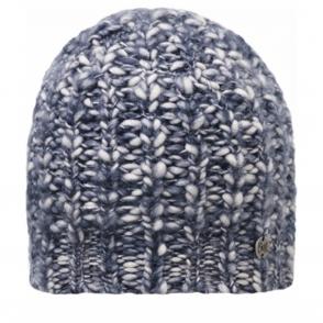Buff Wool Blend Tay Indigo, Chunky knitted hat