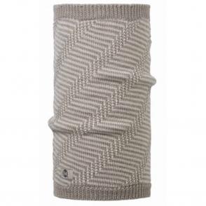 Buff Neckwarmer Wool Loa Cobblestone, Chunky knitted neckwarmer