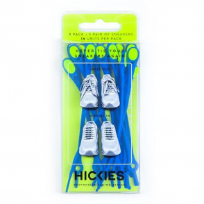 Hickies Blue/Flour Yellow Pack, elastic lacing system turns sneakers into slip-ons!