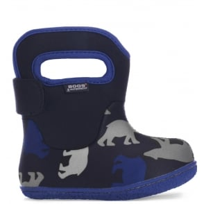 Bogs 720171 Infant Classic Polar Bears Dark Navy Multi, 100% waterproof wellington boots with snuggly warm lining