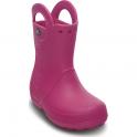 Crocs Kids Handle it Rain Boot Fuchsia, Easy on wellington