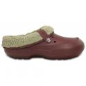 Crocs Blitzen II Clog Burgandy/Clay, easy to remove liner
