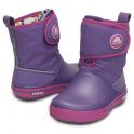 Crocs Kids Crocband II.5 Gust Boot Violet/Wild Orchid, Water resistant nylon upper with velcro adjustable shaft