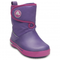 Crocs Kids Crocband II.5 Gust Boot Violet/Wild Orchid, Water resistant nylon upper with velcro adjustable shaft