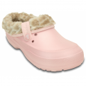 Crocs Blitzen II Clog Animal Print Pearl Pink/Stucco, warm and woolly easy to remove liner