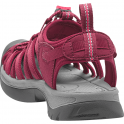 KEEN Womens Whisper Beet Red/Honeysuckle, a narrow version of the orignal sandal with toe bumper