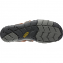 KEEN Mens Clearwater CNX Raven/Tortoise Shell, a low profile lightened version of the orignal sandal