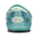 Crocs Girls Keeley Frozen Flat Pool, glitter effect frozen flat!