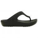 Crocs Sloane Diamante Flip Black, a pretty and feminine everyday platform flip flop