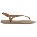 Havaianas Luna Rose Gold, with back strap for extra security