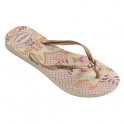 Havaianas Slim Thematic Beige, flip flop inspired by the arts and crafts of Bhutan's artists